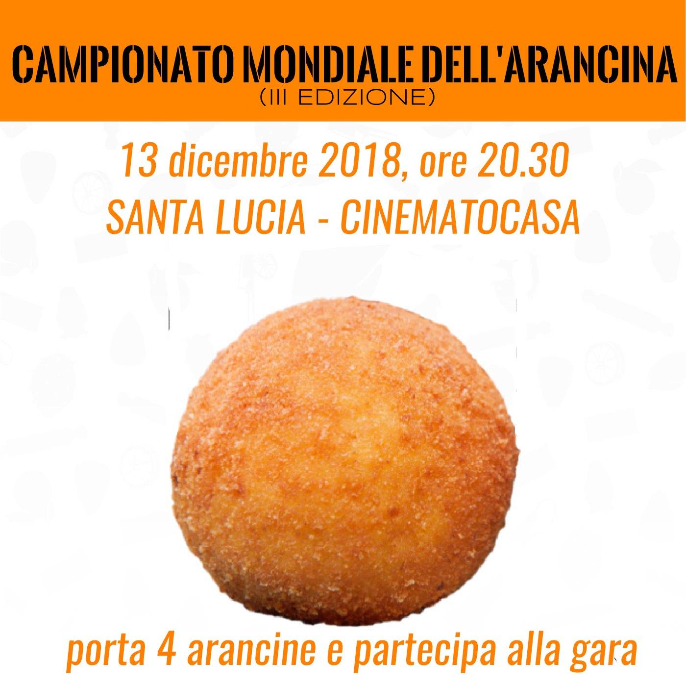 CAMPIONATO MONDIALE DELL'ARANCINA (TERZA EDIZIONE)